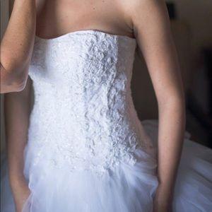 Oleg Cassini Wedding Dress - white - EXCELLENT